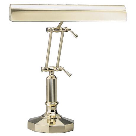 Decagon Base Solid Brass Piano Desk Lamp