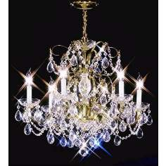 "James R. Moder 24"" Wide Royal Gold Chandelier"