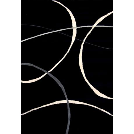Pinnacle Black Area Rug