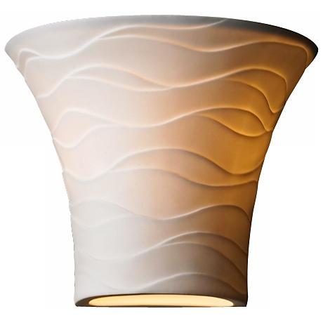"Limoges Collection Flared Waves 6 3/4"" High Wall Sconce"