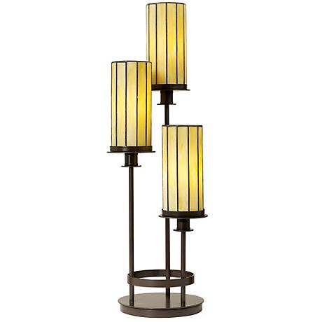 Contemporary Mission Three Light Console Lamp