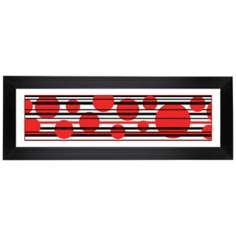"Red Balls Giclee 52 1/8"" Wide Wall Art"