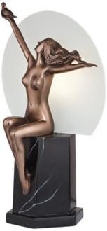 "Seated Figure with Dove LED 14 1/2""H Accent Lamp (6C144) 6C144"
