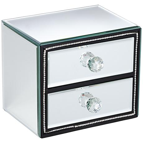 Leeza 2-Drawer Mirrored Jewelry Box