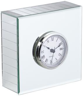 Hugo Mirrored Square Desk Clock (6C735) 6C735