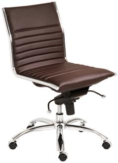 Dirk Low Back Armless Brown Office Chair (6C757) 6C757