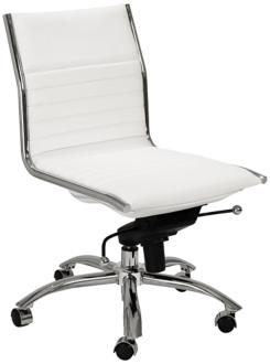 Dirk Low Back Armless White Office Chair (6C765) 6C765