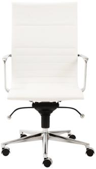 Kyler High Back White Faux Leather Office Chair (6C996) 6C996