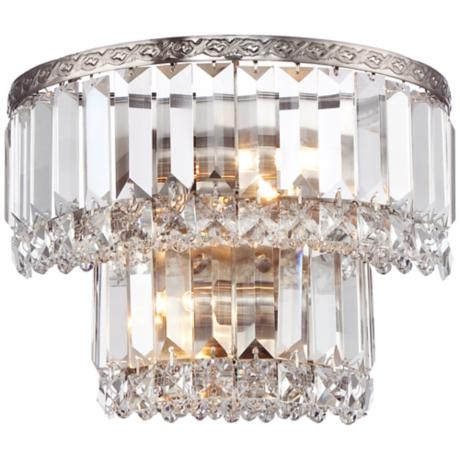Lamps Plus Crystal Wall Sconce : Magnificence Satin Nickel 10
