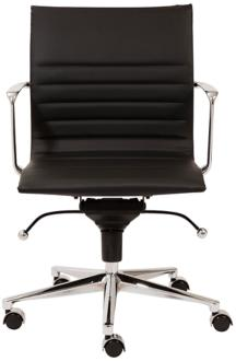 Kyler Low Back Black Faux Leather Office Chair (6C998) 6C998