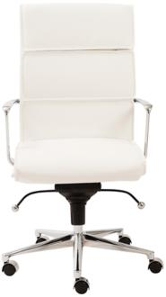 Leif High Back White Faux Leather Office Chair (6D044) 6D044