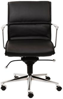 Leif Low Back Black Faux Leather Office Chair (6D045) 6D045