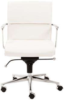 Leif Low Back White Faux Leather Office Chair (6D050) 6D050