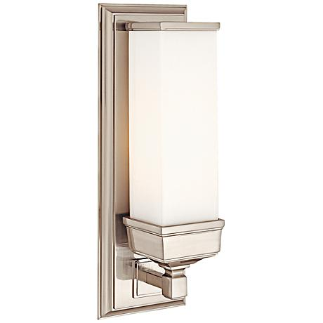 "Hudson Valley Everett 14 1/4""H Satin Nickel Wall Sconce"