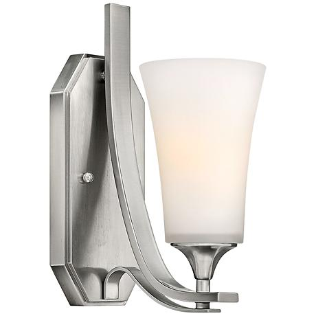 "Hinkley Brantley 12 1/4"" High Brushed Nickel Wall Sconce"