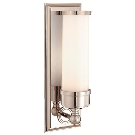 "Hudson Valley Everett 14 1/4"" High Nickel Wall Sconce"