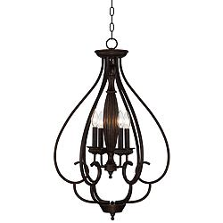 "Dunnell 18 3/4"" Wide Bronze Foyer Chandelier"