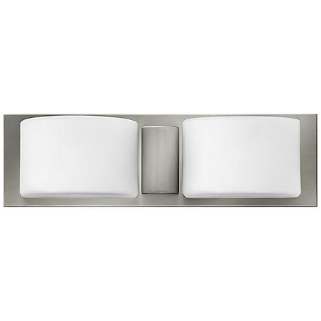 "Hinkley Daria 16 3/4"" Wide Brushed Nickel Bath Light"