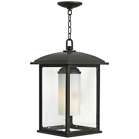 "Stanton 11"" Wide Oil Rubbed Bronze Outdoor Hanging Light"