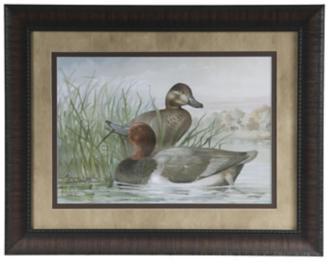 "Red Headed Ducks 28"" Wide Framed Wall Art Set of 4 (6F884) 6F884"