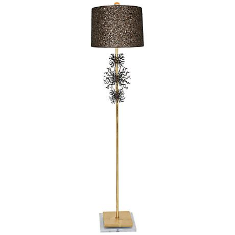 Van Teal Rupture Gold Leaf Floor Lamp