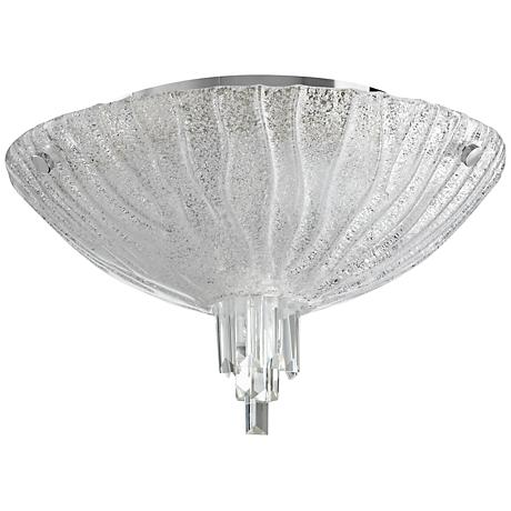 "Frosted Glow 17 1/2"" Wide Clear Glass Ceiling Light"