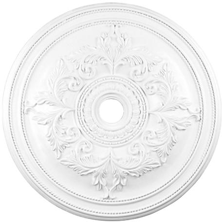 "Pascola 40 1/2"" Wide White Ceiling Medallion"