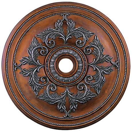 "Pascola 40 1/2"" Wide Crackled Bronze Ceiling Medallion"