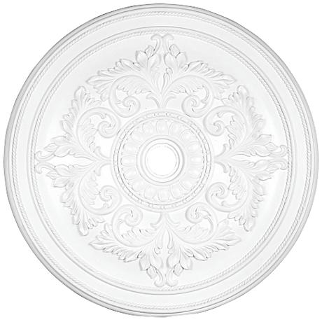 "Pascola 48 1/2"" Wide White Ceiling Medallion"