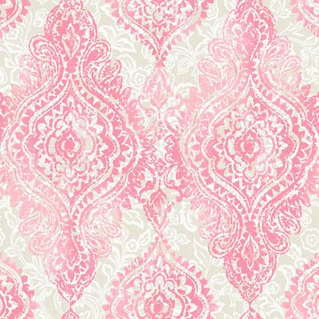York Sure Strip Light Pink Boho Chic Removable Wallpaper