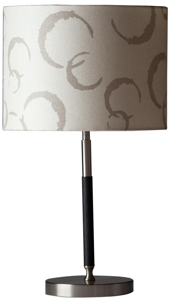 Angel Black Faux Leather Modern Table Lamp (6H126)