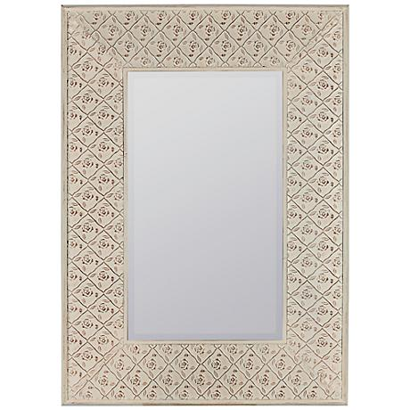 "Cooper Classics Ashley Cream 29 1/2""x41 1/2"" Mirror"