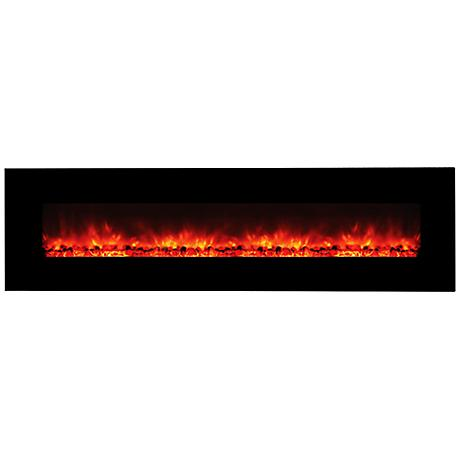 "Yosemite Hera 95"" Wall-Mount Electric Fireplace"