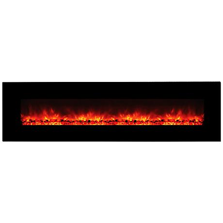 "Yosemite Hera 95"" Heatless Wall-Mount Electric Fireplace"