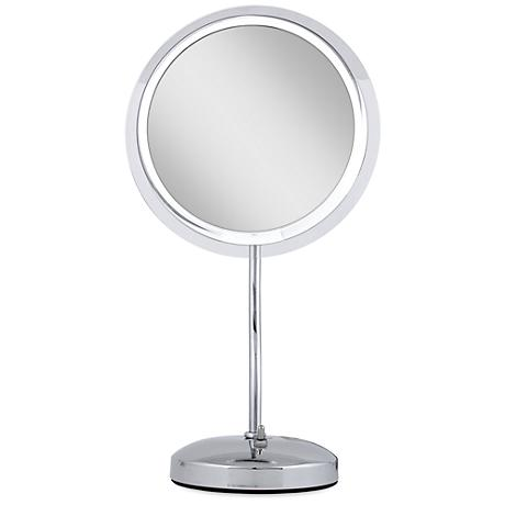 Chrome S-Neck Surround Light 6X Magnified Makeup Mirror