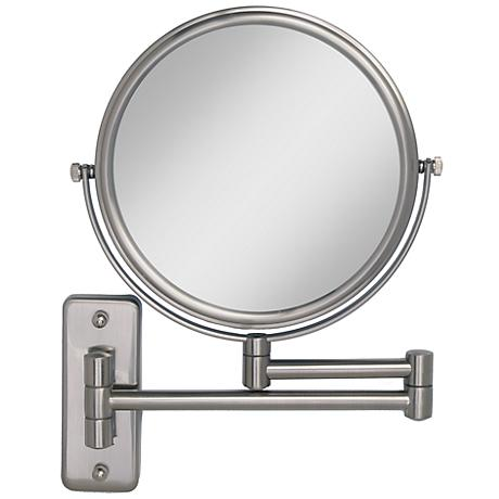 Satin Nickel Wall Mounted Dual Jointed Mirror 6h266