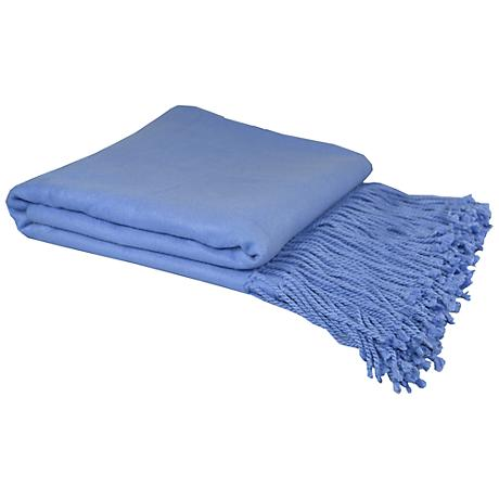 Periwinkle Bamboo Velvet Throw Blanket