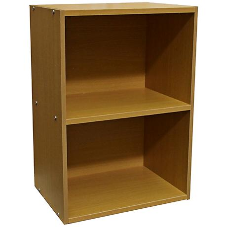 Elsinger 2-Shelf Natural Oak Bookshelf