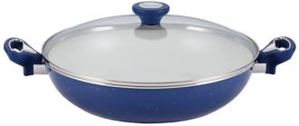 "Farberware Speckled Blue 12 1/2"" Nonstick Covered Skillet (6H880) 6H880"