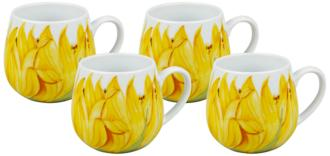Sunflower Snuggle Mugs Set of 4 (6J064) 6J064