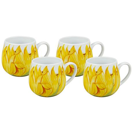 Sunflower Snuggle Mugs Set of 4