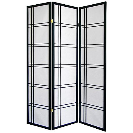 Girard Black 3-Panel Room Divider
