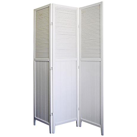 Bevington White Shutter Door 3-Panel Room Divider