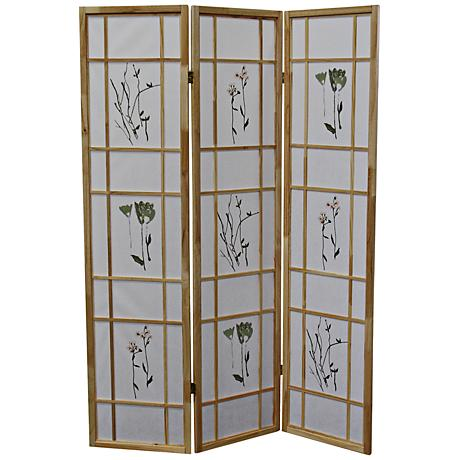 Umi Natural 3-Panel Shoji Room Divider Screen