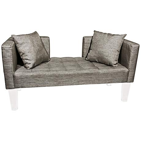 Rojo 16 St. Tropez Accent Pillow Silver Fabric Sofa