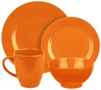 Fun Factory Orange 16-Piece Place Setting (6J574) 6J574