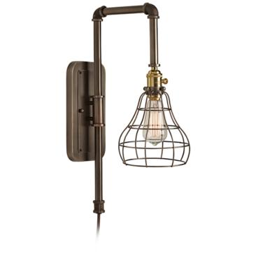 Wall Sconces Plug Into Outlet : Grier Industrial Wire 15