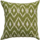 "Sage Green Diamond Print 18"" Square Throw Pillow"