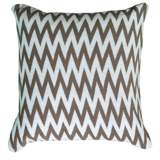 "Gray and White Woven 20"" Square Chevron Throw Pillow"