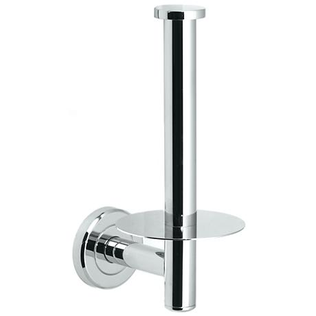 Gatco Latitude II Upright Chrome Toilet Paper Holder